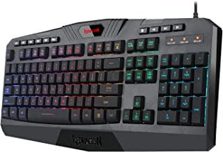 Redragon K503 PC Gaming Keyboard, Wired, Multimedia Keys, Silent USB Keyboard with Wrist Rest for Windows PC Games (RGB LED Backlit with Marco Recording)