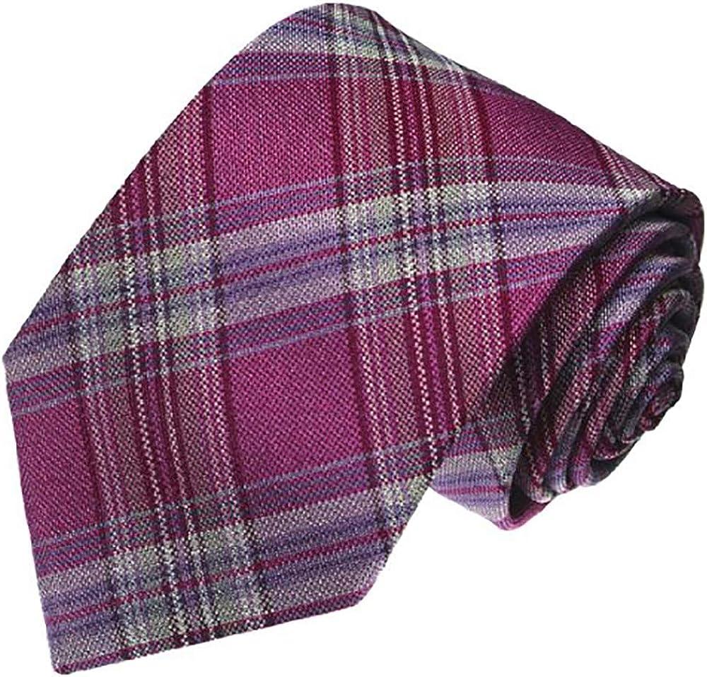 LORENZO CANA - 100% quality warranty Department store Luxury Italian C Tie Silk Purple Violet Grey