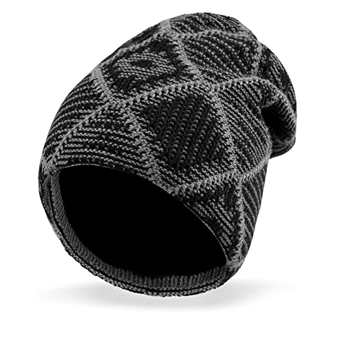 VBIGER Beanie Hat Knit Hat Winter Skull Wool Hat Windproof for Men   Women 55d1f63f3a9