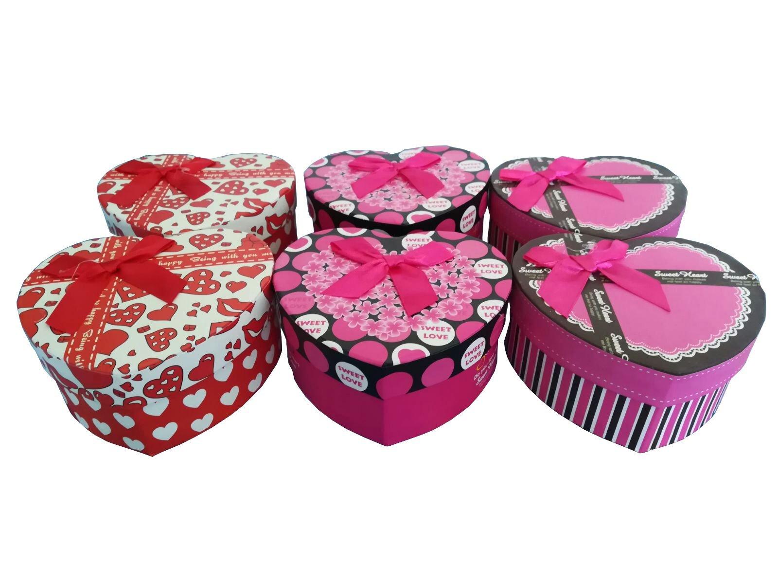 Caja regalo corazon PACK 6 . Cajitas ideales para regalos boda comunion mujer joyas hombre .Ideales para envolver regalos: Amazon.es: Hogar