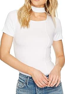 Free People Womens Bright Lights Choker Basic T-Shirt