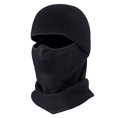 ae5bb225852 ChinFun Balaclave Fleece Windproof Ski Face Mask Tactical Hood Motorcycle  Neck Warmer Thermal Retention Outdoor