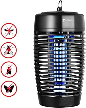 YUNLIGHTS 18W Electronic Bug Zapper, Mosquito Zapper UV Light, Fly Trap, Mosquito Lamp, Insects Killer, Fly Zapper, Mosquito Trap for Outdoor Indoor Kitchen Restaurant Yard Patio