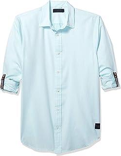 Scotch & Soda Mens 151207 Washed Shirt Long Sleeve Shirt
