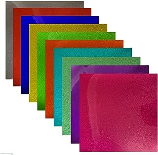 Transparent Glitter Permanent Adhesive Vinyl 12