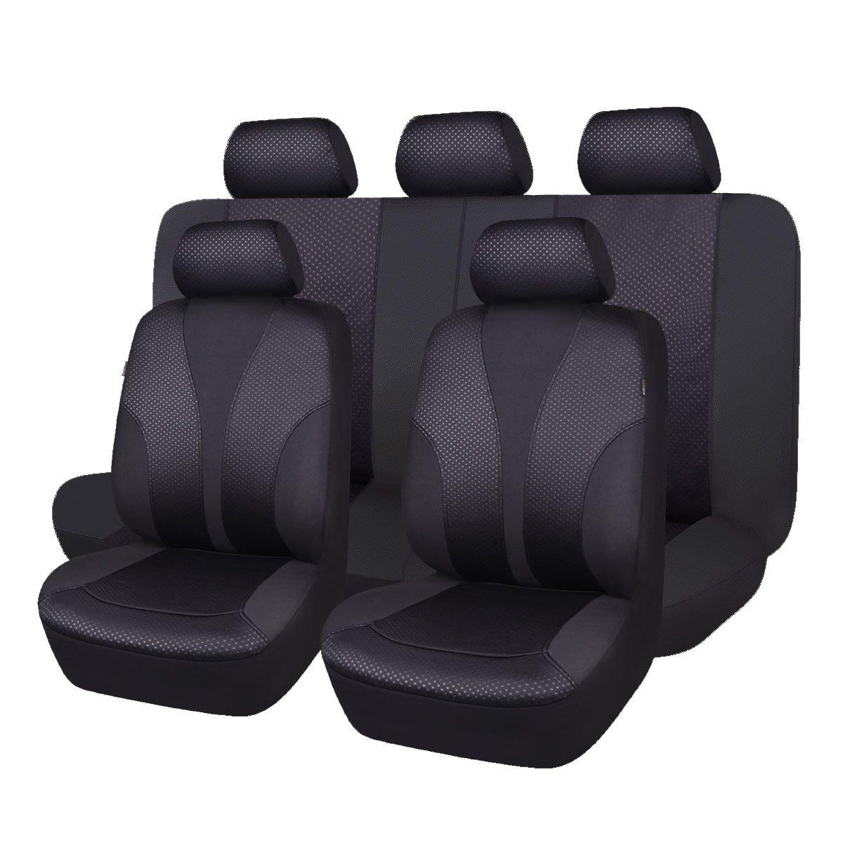 Coprisedili AUTO PER FORD Ka Plus 17-Nero Set Completo rivestimenti coprisedili