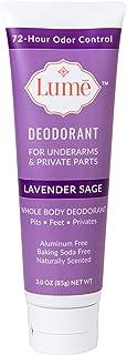 Lume Deodorant For Underarms & Private Parts 3oz Tube (Lavender Sage)
