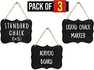 Hanging Chalkboard Signs Large 8x10