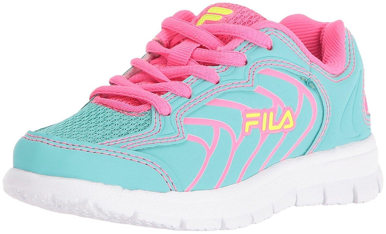 Fila Girls' Star Runner Skate Shoe Aruba Blue/Knockout Pink/Safety Yellow 13 M US Little Kid [並行輸入品]
