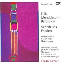 Mendelssohn, Felix: Church Music, Vol. 6 - Psalm 115 / O Haupt Voll Blut Und Wunden / Wer Nur Den Lieben Gott Lasst Walten