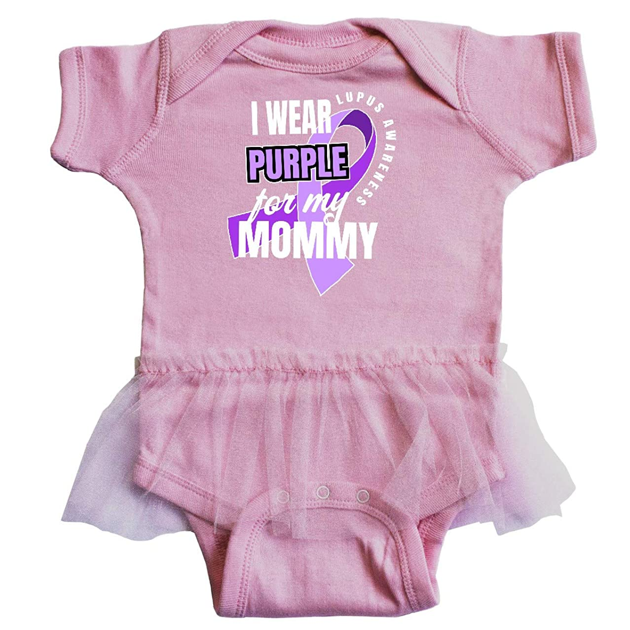 inktastic - I Wear Purple for My Mommy Lupus Infant Tutu Bodysuit 35270