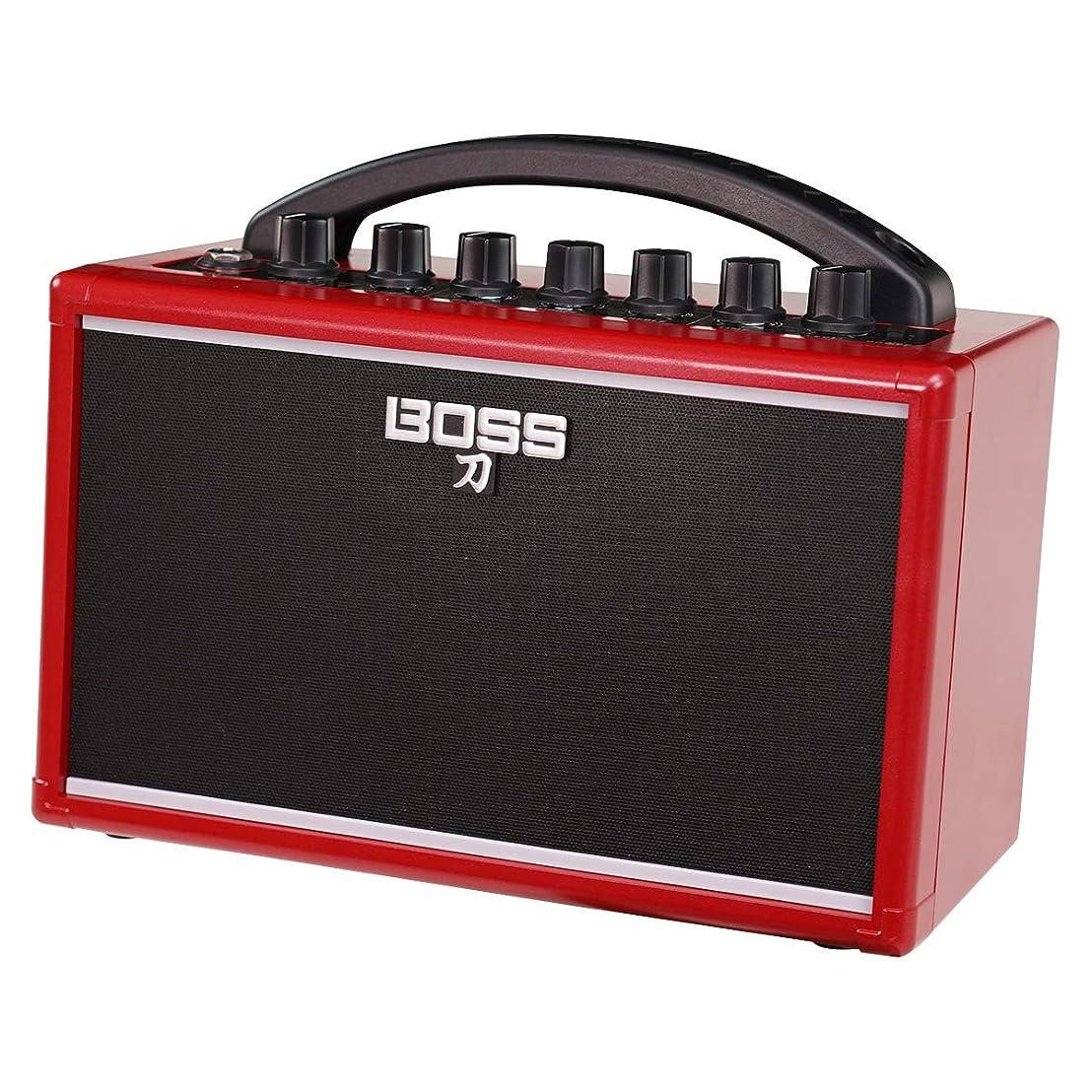 """シート支出冷酷なBOSS ボス ポータブルギターアンプ IKEBE ORIGINAL KATANA-MINI """"RED"""" [KTN-MINI-R]"""
