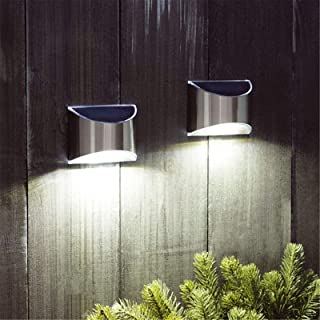 JXWYHH Super Bright LED Solar Powered Wall Light Door Fence Outdoor Garden Lighting, Outdoor Lighting Solar Powered Wall M...