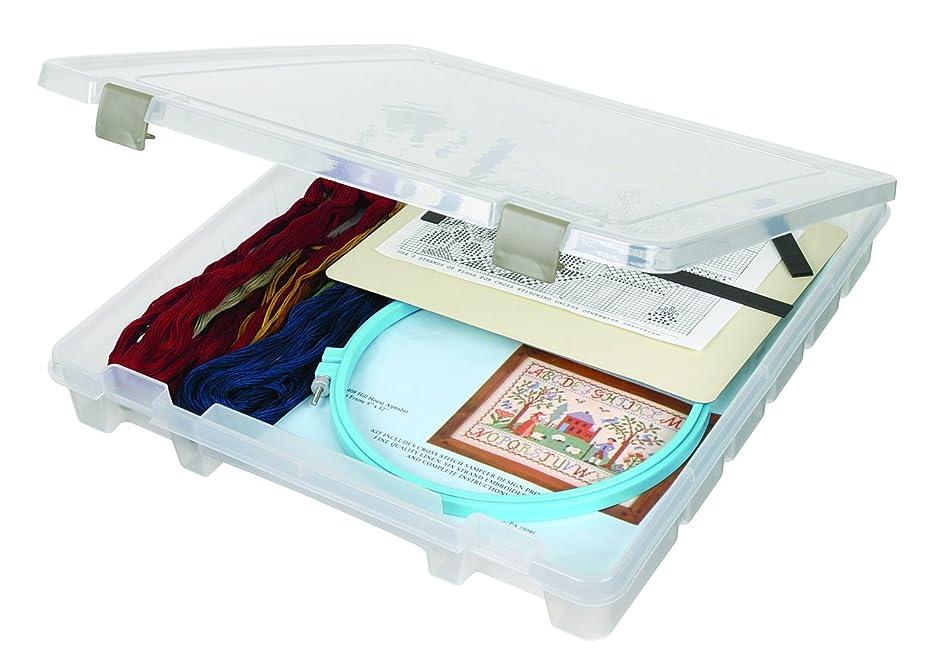 ArtBin Super Satchel Slim Single Compartment Box- Plastic Art and Craft Supply Storage Container, 9100AB