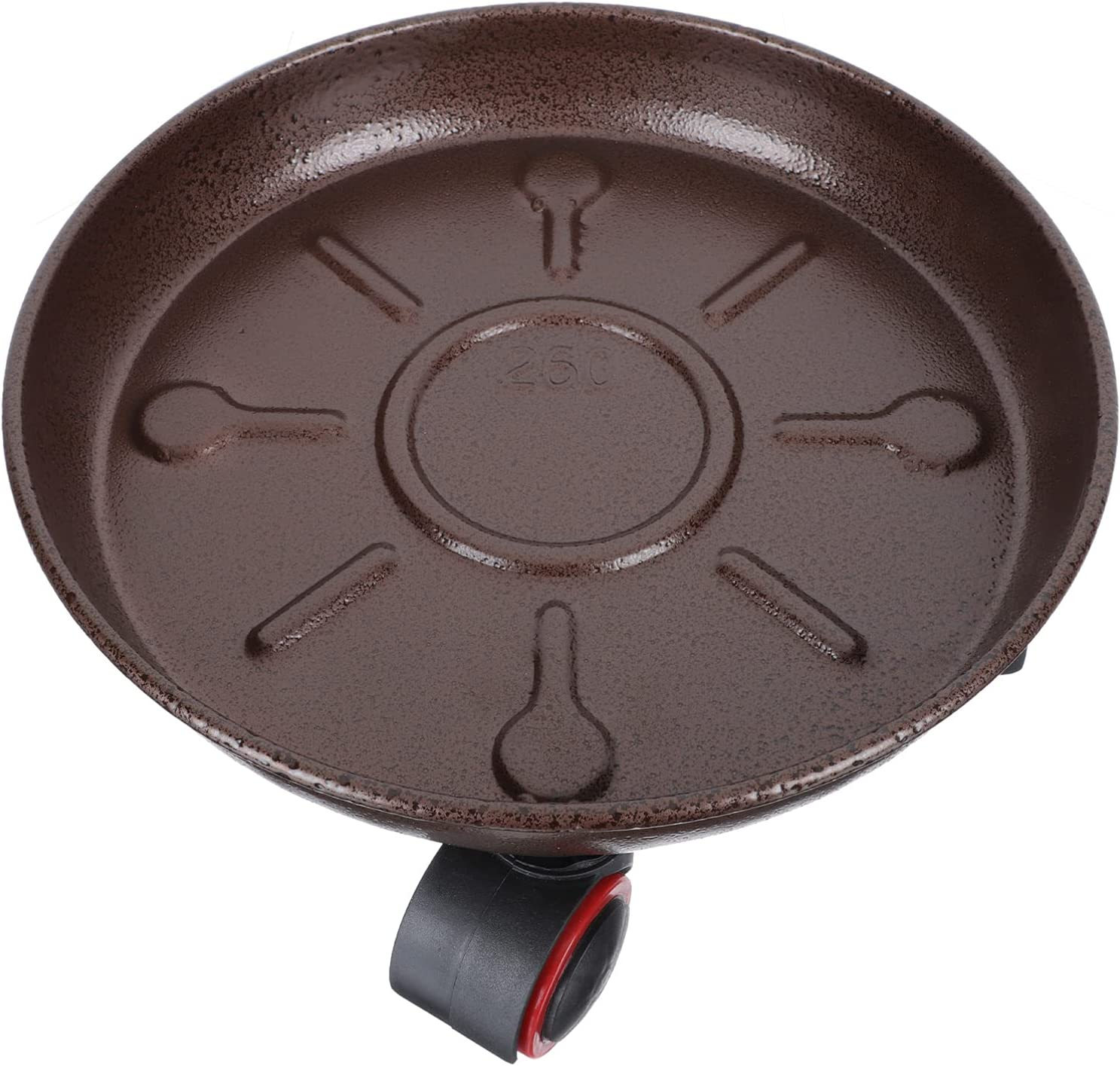 Happyyami Round Flower Pot Selling and selling Tray 2021 spring and summer new Metal Heavy Plant Iro Duty Caddy