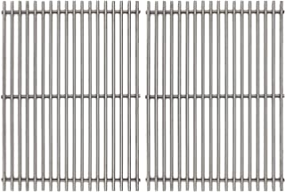 Hongso 17 inch Grill Cooking Grates Replacement for Nexgrill 720-0830H, Kenmore 415.16106210, 122.16641900, Uniflame Gas Grill, 17 inch SUS 304 Stainless Steel Grill Cooking Grids, Set of 2 (SCA192)