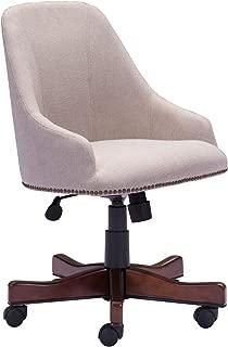 Zuo Modern Maximus Office Chair in Beige and Poplar