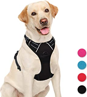 BARKBAY No Pull Dog Harness Large Step in Reflective Dog Harness with Front Clip and Easy Control Handle for Walking Training Running