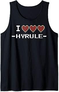 I Heart Hyrule Pixel Art Text Tank Top