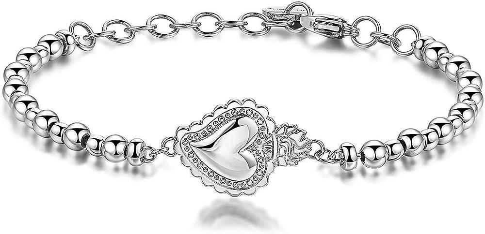 Brosway sacro cuore bracciale chakra per donna in acciaio e cristalli swarovski BHK223