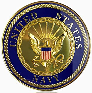 U.S. Navy Car Emblem Military Auto Decal Badge Commemorative Gifts