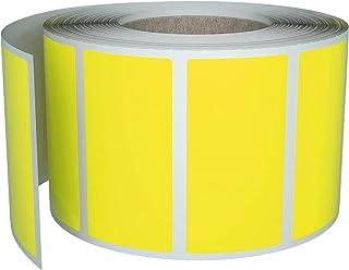 Aufkleber Gelb 40 x 19 mm Sticker – 4 x 1,9 cm Etiketten 500 Stück von Royal Green