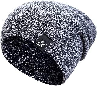 AHUIGOYCE Winter Beanie Hats Wool Cap Knit Hat Skull Hat for Men Women Warme Winter Hat Toboggan Cap Ski Cap