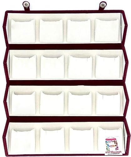 atorakushon Velvet 16 Pair Earrings Organizer Jewellery Box for Women and Girls