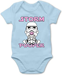 Shirtracer - Sprüche Baby - Storm Pooper Mädchen - Baby Body Kurzarm für Jungen und Mädchen