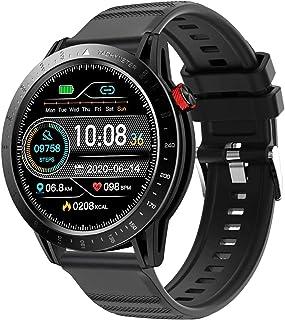 Smartwatch, Reloj Inteligente con Pantalla 1,3 Pulgadas, Pulsómetro, Cronómetros, Calorías, Monitor de Sueño, Podómetro,Impermeable Smartwatch de Moda para Android iOS,Plata