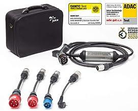 Juice Booster 2 Cargador Portátil Coches - 22kW, 32A, Trifasico, Monofásico, Tipo 2, emobility   German Traveller Set   4X Adaptadores
