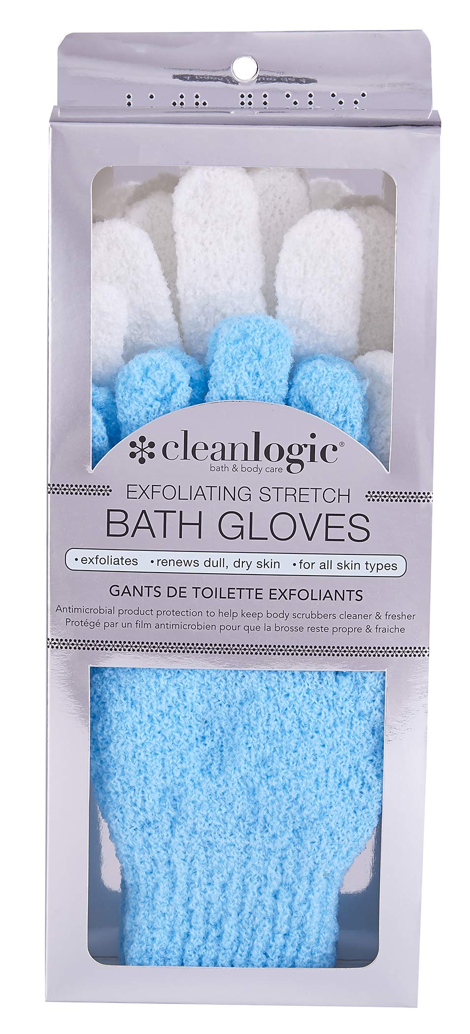 Cleanlogic Exfoliating Stretch Shower Gloves