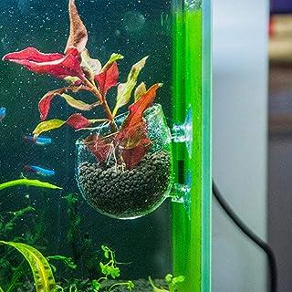 B&K Aquarium Plant Pots Wall Hanging Planter Fish Tank Background Decorations Pot Multi Use for Succulent Flower Seed Pot ...