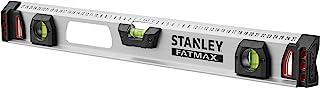 Stanley 1-43-554 Niveau magnétique 60 cm I-BEAm Gamme Fatmax - Aluminium Résistant et Léger - Antichocs - 3 Fioles Dont Un...