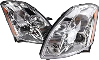 2PC Driver & Passenger Headlights Headlamps Set Replacement fit for 2004 2005 2006 Nissan Maxima