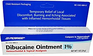 Dibucaine Ointment 1% USP, Anesthetic Hemorrhoids Ointment - 1 oz (PACK OF 3)