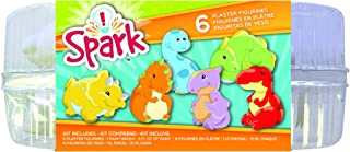Colorbok 74207 Spark Plaster Value Pack 6pc - Dinosaurs, Paint Your Own