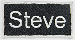 Steve Name Tag Patch Uniform ID Work Shirt Badge Embroidered Iron On Applique