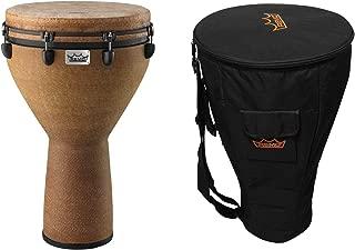 Remo Mondo Djembe Drum + Deluxe Padded Djembe Bag