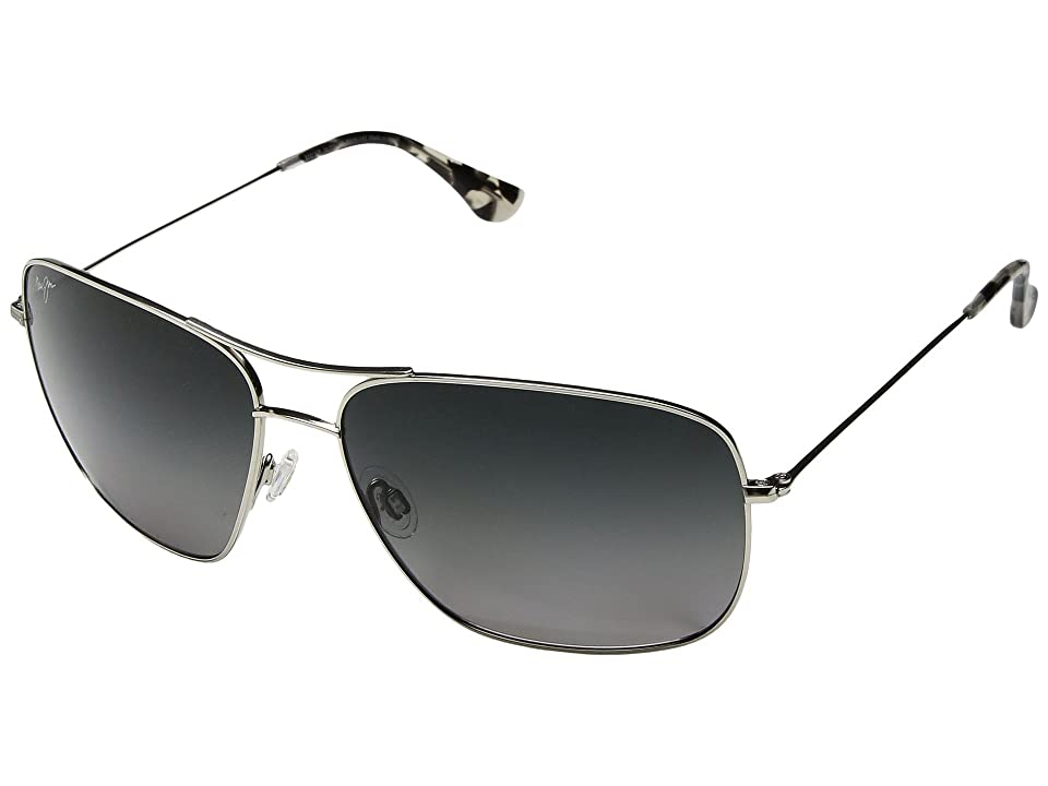 Maui Jim Cook Pines (Silver/Neutral Grey) Athletic Performance Sport Sunglasses