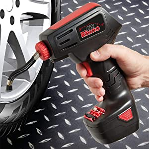 Cordless Air Rhino Air Compressor for Car  amp  Bike Tyres With Digital Display