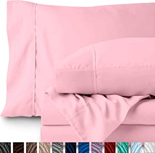 Best light pink bed sheets twin xl Reviews