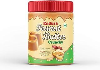 Endura 100% All Natural Peanut Butter (Crunchy), 400g (Unsweetened, Non-GMO, Gluten Free, Vegan)