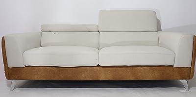 Danube Home Kaori 3 Seater Fabric Sofa - Grey/Caramel
