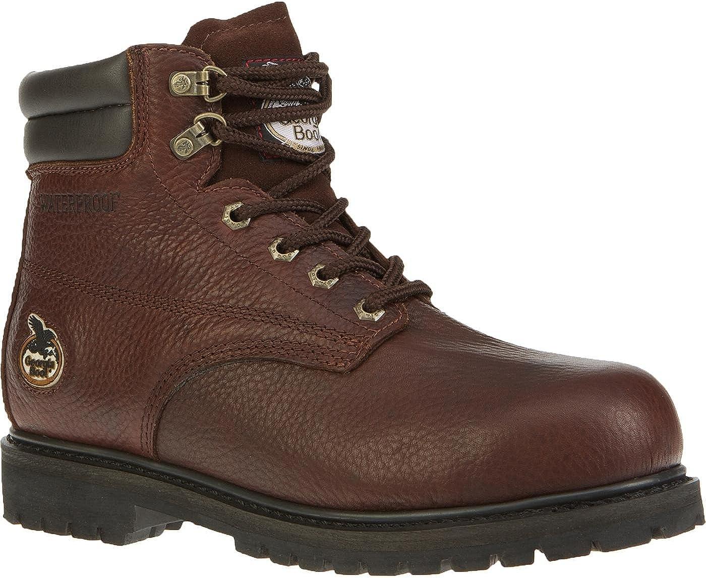 Don't miss the campaign Georgia Men's Oiler Steel Toe Shoe-G6174 M11 B Work Mail order cheap Waterproof