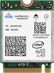 fosa Wireless 18265NGW NGFF M.2 WiFi Card, High Speed 2.4G/5G Bluetooth 4.2 Tri-Band Wireless Card Module for Acer,Asus,Dell,Samsung,Sony PC Laptop