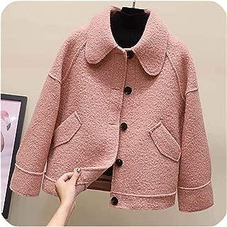 Surprise S Winter Coatshort Luxury Lamb Wool Jacket Loose Warm Overcoat