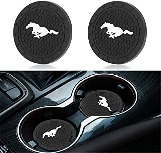 JDopption Car Logo Cup Holder Coaster Insert Cup Mat for Mustang Series Silicone (Mustang)