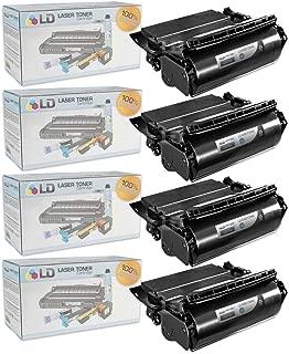 LD Compatible Lexmark 64015HA Set of 4 Black Laser Toner Cartridges for The T644tn, T642dtn, T640, T642tn, T640dtn, T644dn, T640tn, T644n, T642dn, T642n, T640dn, T644, T640n, T644dtn, T642 Printers