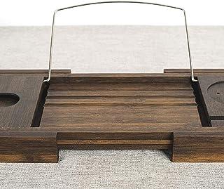 Niepoślizgowa wanna do kąpieli wanna, rozszerzalna bambusowa deska do kąpieli, nadaje się do rodzinnego doświadczenia spa